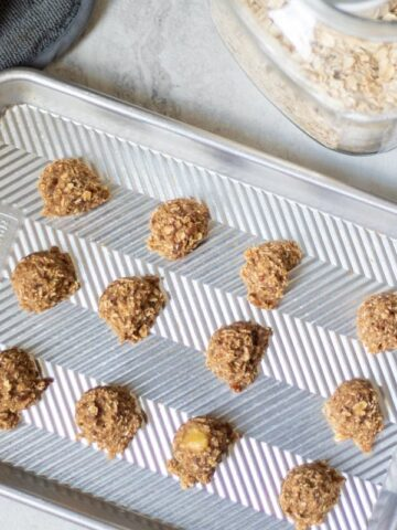 Baked Oatmeal Banana Cookies on Baking Sheet