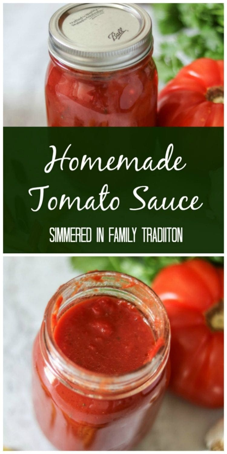 Homemade Tomato Sauce: A Versatile Sauce using a family recipe that has been passed down for generations. Gluten-Free. Dairy-Free.