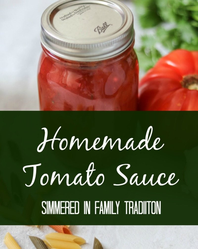 Homemade Tomato Sauce: My family's tomato sauce that has been passed down through generations. This recipe is the perfect balance and is sure to become your all-purpose tomato sauce.