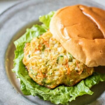 Quinoa Burger on Bun with Lettuce