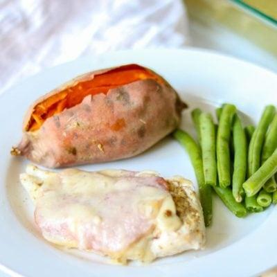 Easy Baked Chicken Cordon Bleu
