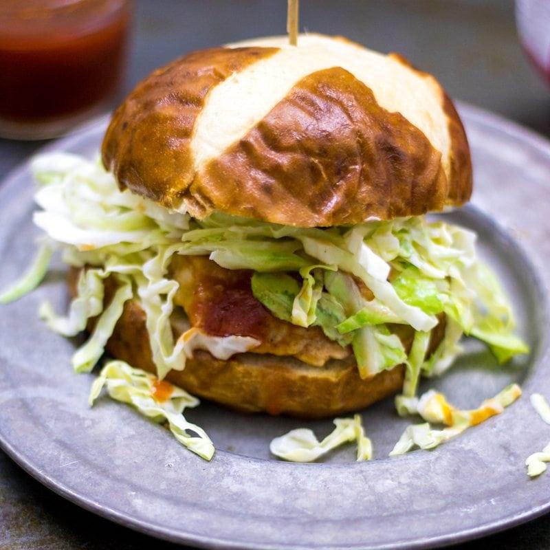 Cheddar Stuffed BBQ Burger