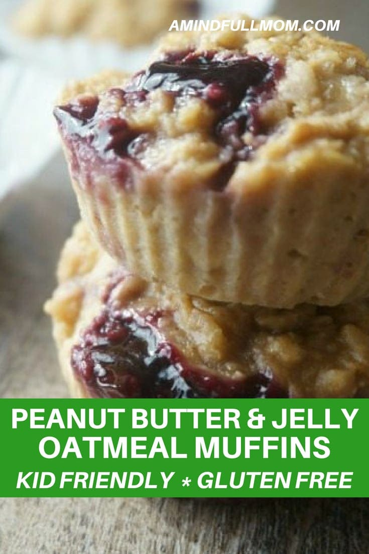 Gluten Free Peanut Butter and Jelly Muffins: A childhood classic in a gluten-free muffin form. Perfect for on the go and packing for lunches. Peanut free version included.#glutenfree #muffin #lunchbox
