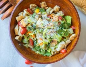 Grilled Panzanella Salad with Chicken Sausage: A grilled version of a classic panzanella salad, made heartier with the addition of sausage.