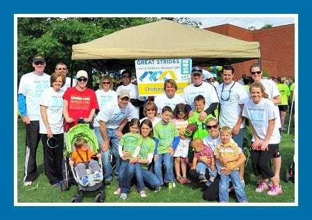 """My Team """"The Chidsey Fighters"""" at the Great Strides Fundraising Walk for Cystic Fibrosis"""