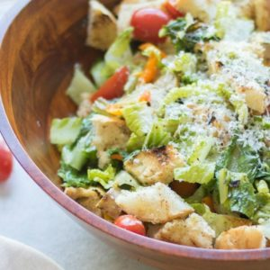 Grilled Panzanella Salad with Chicken Sausage
