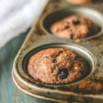 100% Whole Wheat & Naturally Sweetened Blueberry Muffins