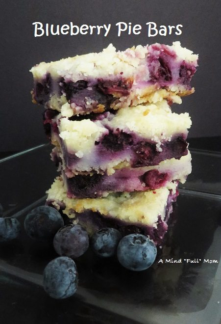 "Blueberry Pie Bars by A Mind ""Full"" Mom"