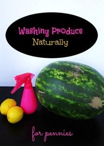 How to Wash Produce Naturally
