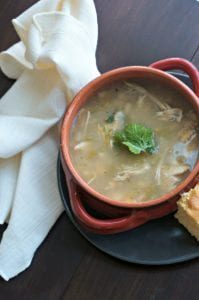 Crock Pot White Chicken Chili: Comforting, Hearty, Easy. 5 Minute prep to a spicy dinner that will warm your soul and tantalize your tastebuds. Gluten Free. Dairy Free.