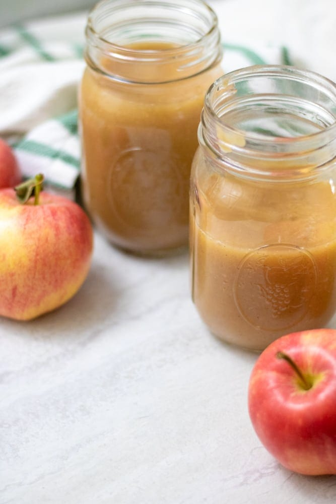2 jars of homemade applesauce