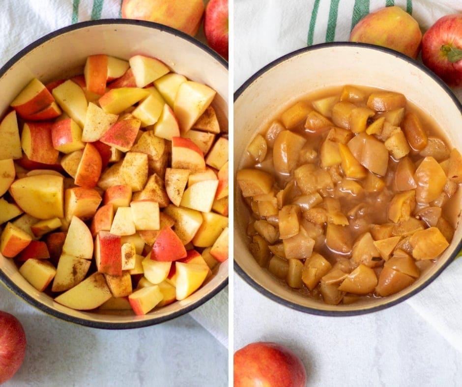 Steps for Making Applesauce