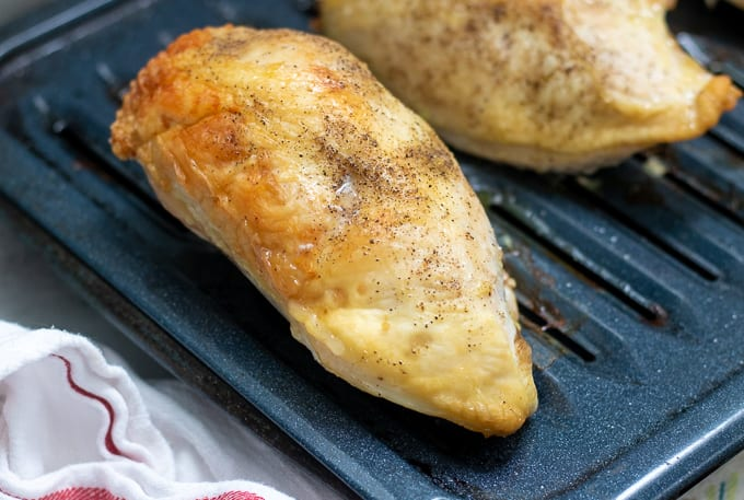 Roasted Chicken Breast on Broiler Pan