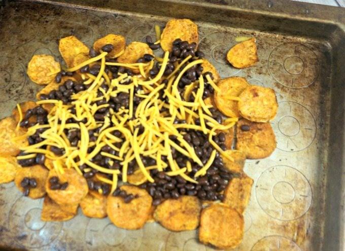 Making Black Bean and Sweet Potato Nachos