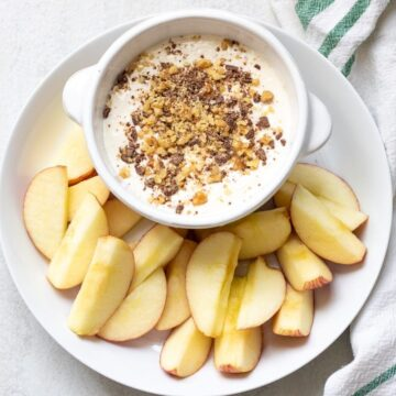 Easy Cream Cheese Apple Dip with apple slices