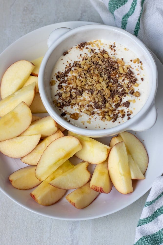Cream Cheese Apple Tip with Toffee