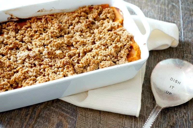 A Healthier Spin on My Family's Favorite Sweet Potato Casserole Healthified Sweet Potato Casserole: A lightened up, naturally sweetened version of sweet potato casserole.