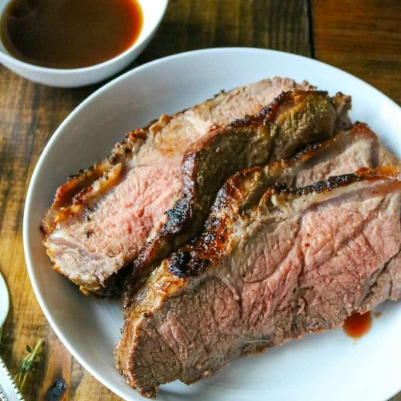 New York Strip Roast with Brandy Au Jus