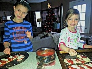 Candy Cane Pizzas Via My Two Christmas Elves