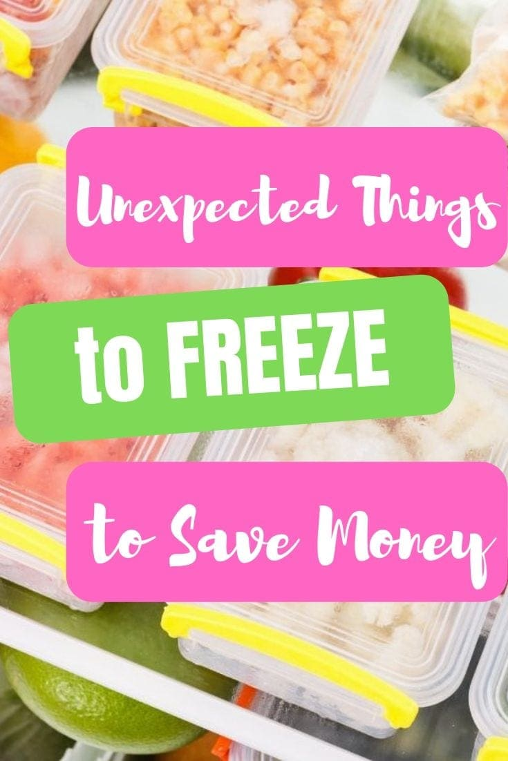 There are so many thing you can freeze that you may never have thought of before! This list of more than 20 things you didn't know you can freeze will save you money and time! #freezer #freezertips #cookingtips #moneysaving