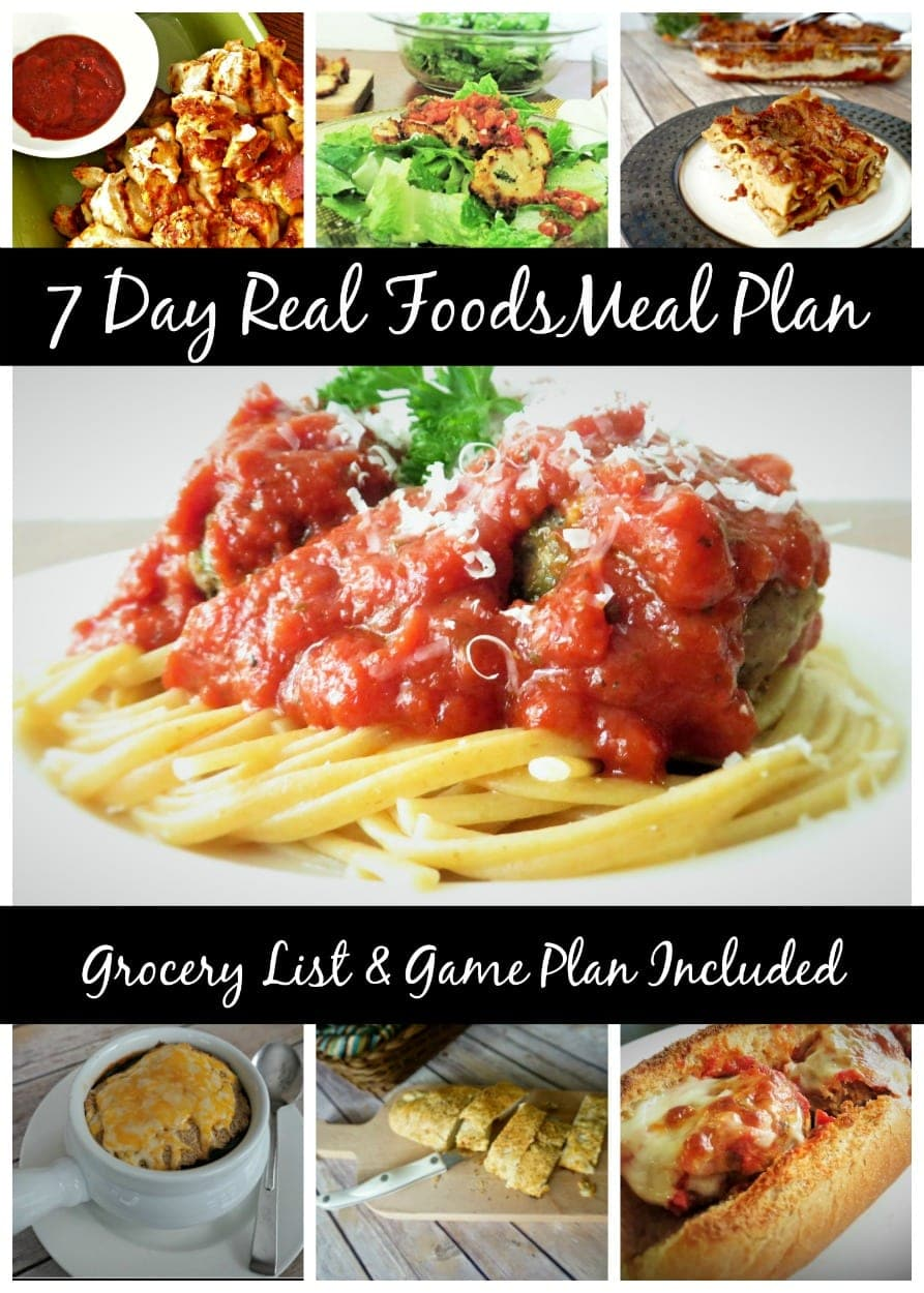 Free 7 Day Italian Real Foods Meal Plan with Grocery List and Game Plan Included