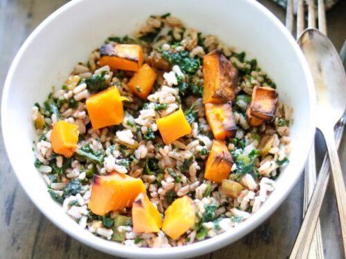 Vegan Butternut Squash Rice Bowl A Mind Full Mom