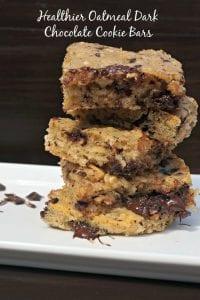 Healthier Oatmeal Dark Chocolate Bars
