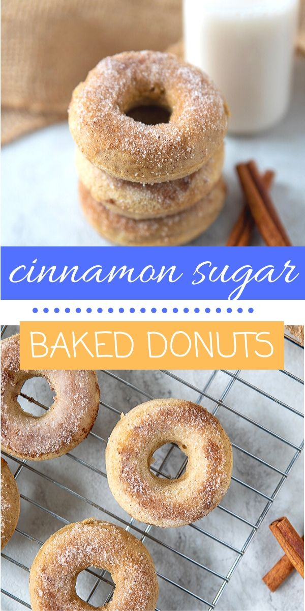 Homemade Baked Cinnamon Donuts are not only EASY to make, but they are ridiculously delicious!