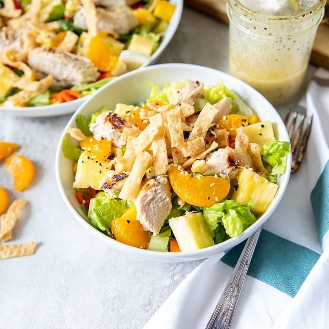 Luau Salad in white bowl