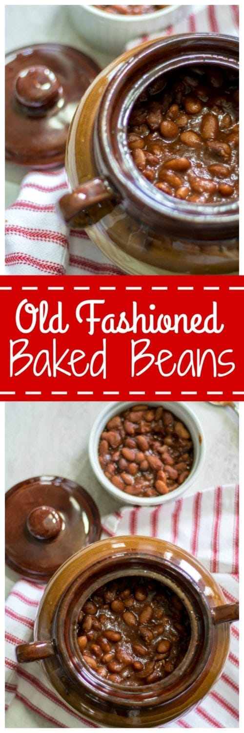 Old Fashioned Baked Beans: From scratch, maple bacon baked beans are the perfect recipe for your summer cook-out. Gluten-Free. Vegan and Vegetarian Options. Slow Cooker and Instant Pot directions as well.