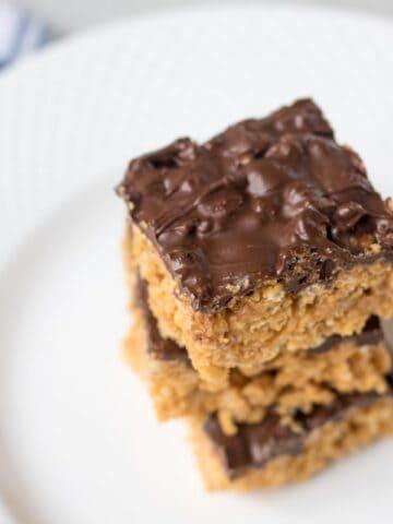 Peanut Butter Chocolate Rice Krispie Treats