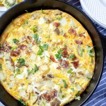 Frittata Baked in Cast Iron Skillet