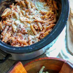 Easy Crock Pot Baked Pasta Recipe   Crock-pot Pasta Recipes   Meatless Slow Cooker Recipe   Simple Slow Cooker Pasta   How to Cook Pasta in the Slow Cooker