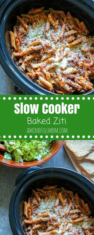 Easy Crock Pot Baked Pasta Recipe | Crock-pot Pasta Recipes | Meatless Slow Cooker Recipe | Simple Slow Cooker Pasta | How to Cook Pasta in the Slow Cooker | Easy Family Dinner Recipes |