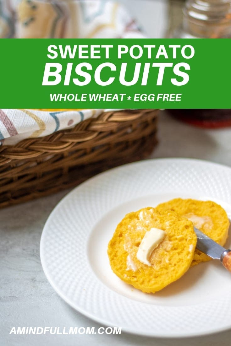Easy Sweet Potato Biscuits: Tender, flaky, whole wheat biscuits made with sweet potato puree are light, fluffy and incredibly moist biscuits. These Sweet Potato Biscuits are perfect for as the base of a savory breakfast sandwich, to serve with a hearty soup, or just to eat with jam.#biscuits #sweetpotato #wholewheat #easyrecipe