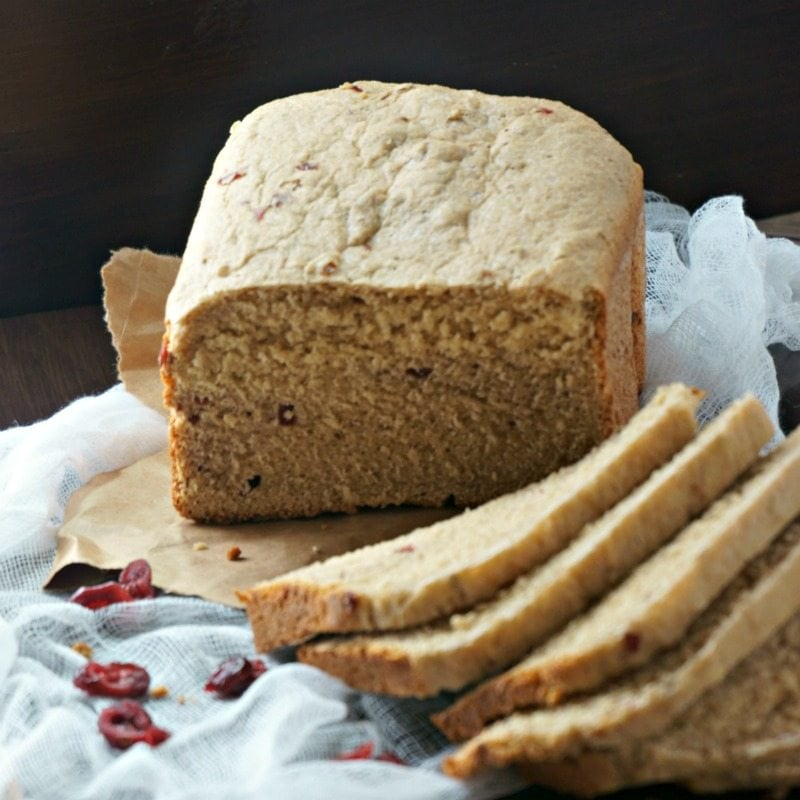 Easy Whole Wheat Cranberry Walnut Bread on parchment paper