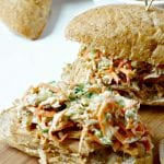 Honey Mustard Pork Sliders with Brussel Sprout Slaw