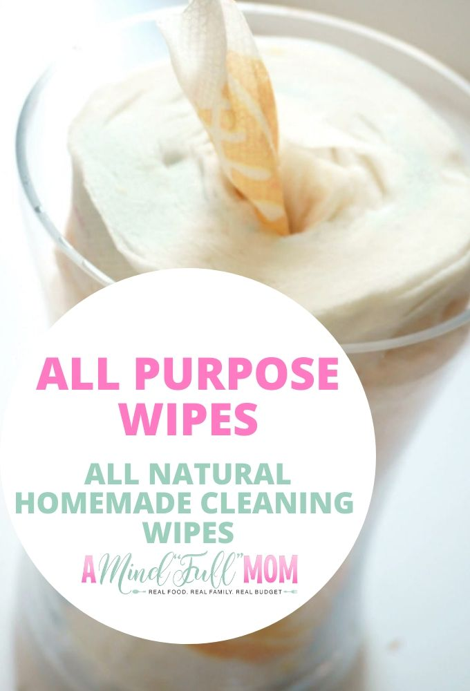 You won't believe how easy it is to make your own All Purpose Wipes! These DIY All Natural Wipes are made with just 4 natural ingredients to create wipes that clean hard surfaces