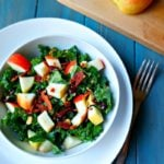 Kale Salad with Warm Bacon Dressing