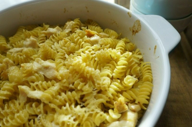 Creamy Chicken Casserole: AKA Amish Chicken. An old fashioned rich and creamy chicken dish that has been elevated with wine and thyme.