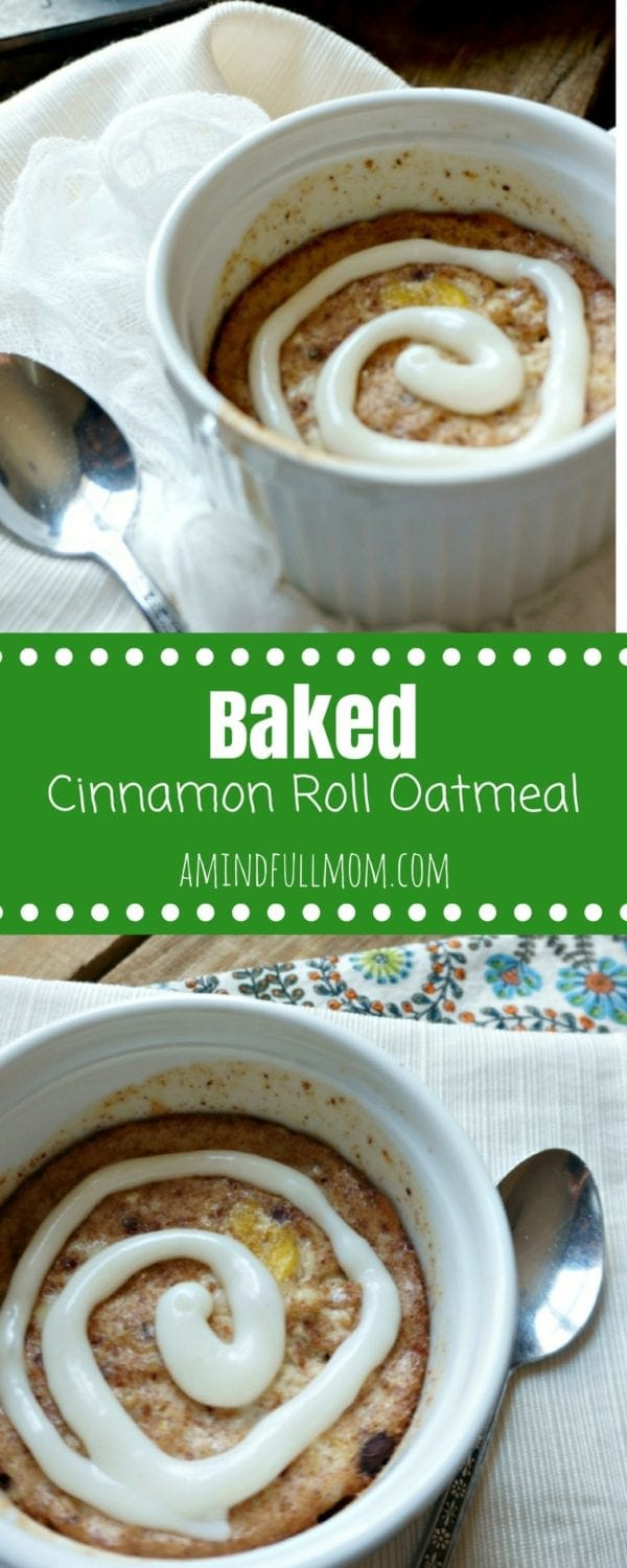 Baked Cinnamon Roll Oatmeal Cups: A breakfast that is full of hearty grains, fiber, protein--but tastes just like an ooey, gooey cinnamon roll. This is one breakfast treat that will make eating healthy a dream come true and comes complete with finger-licking icing!| Baked Oatmeal Recipes | Oatmeal Recipes | Steel Cut Oats | Oat Recipes | Baked Oatmeal Recipes |