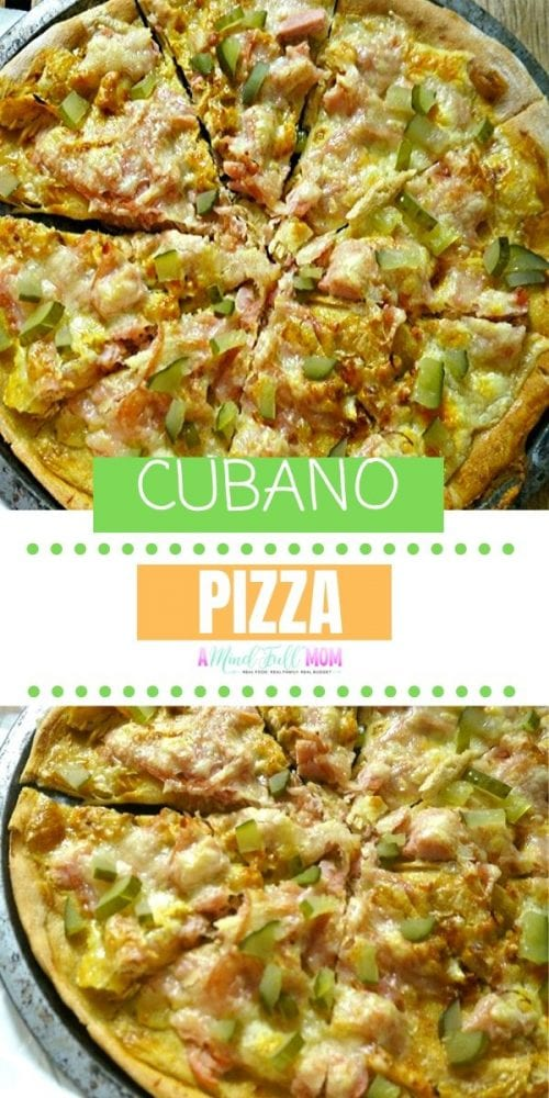 All the classic flavors of a Cubano sandwich in pizza form. Mojo pork, sweet ham, tangy pickles, sharp cheese and mustard make the perfect spin on this sandwich and are magically transformed into a mouth -watering pizza Pizza.