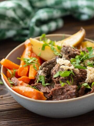 Slow Cooker Pot Roast made with 5 Ingredients