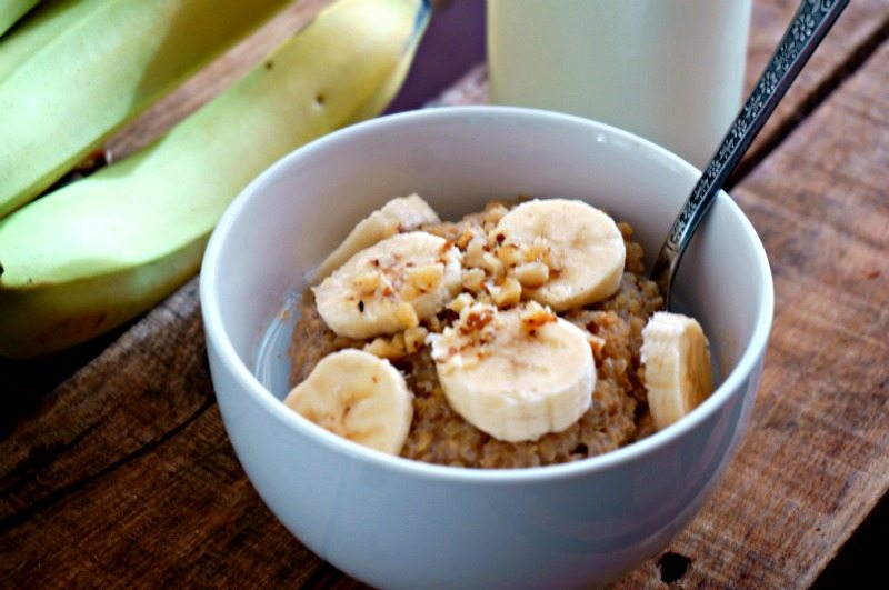 Start your day with a protein-packed, calcium rich bowl of Banana Nut Quinoa Porridge and know that your morning will be fueled with all the nutirients you need to stay sharp, focused, and to power you through your day!