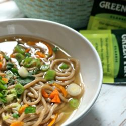 The Ultimate Cold and Flu Fighting Soup: Green Tea Ramen. The powerful benefits of green tea, fresh garlic, fresh ginger all served up in a warming, comforting Asian Soup. You are guaranteed to feel better in no time!