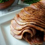 Balsamic Fig Glazed Ham: A moist ham becomes masterpiece with a simple sweet and savory balsamic fig glaze. Perfect for any holiday dinner or just a special weekend meal.