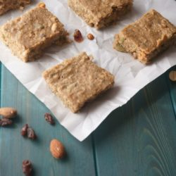 Trail Mix Snack Bars: A healthy and hearty DIY snack bar that is filled with nuts, dried cranberries, seeds and a whole lot of protein! These gems are also Gluten-Free and easy to make!