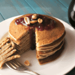 Peanut butter jelly pancakes gluten free a mind full mom peanut butter and jelly pancakes ccuart Images