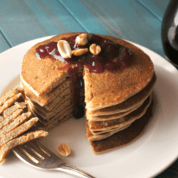 Easy Peanut Butter and Jelly Pancakes