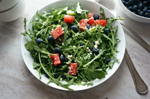 Blueberry and Watermelon Arugula Salad